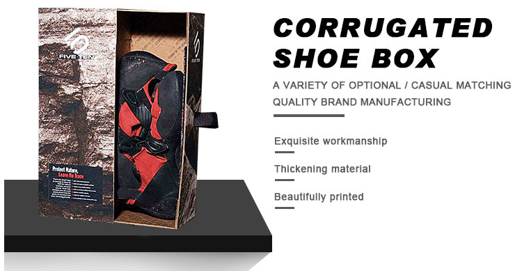 corrugated shoe boxes packaging